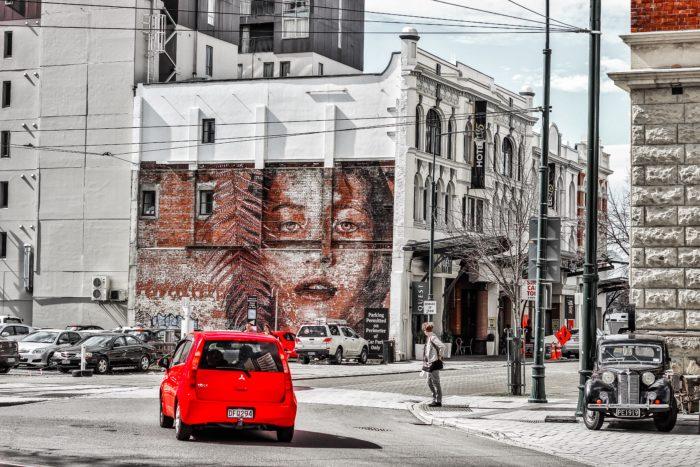 クライストチャーチの街中のアート