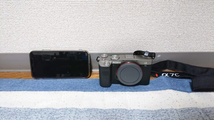 sony a7cとスマホ